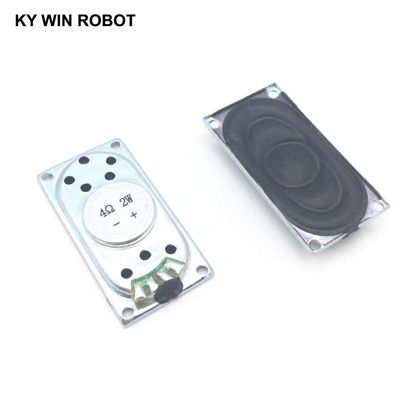 2pcs/lot Notebook Speaker Horn 2w 4r 4020 Loud Speaker 4 Ohms 2 Watt 4r 2w 40*20mm Thickness 5.8mm Electronic Components & Supplies Passive Components