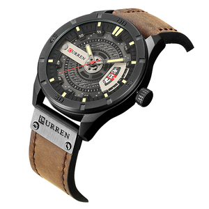 Image 3 - CURREN Hot Fashion Creative Watches Casual Military Quartz Sports Wristwatch Display Date Male Clock Hodinky Relogio Masculino