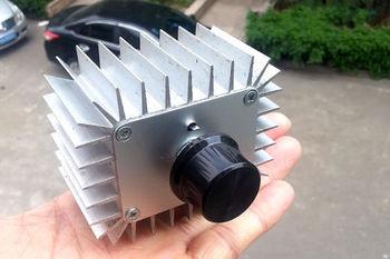 220V 5000W Regulator napięcia SCR Regulator prędkości Moror ściemnianie światła ściemniacze termostat tanie i dobre opinie TCXRE Silnik ac