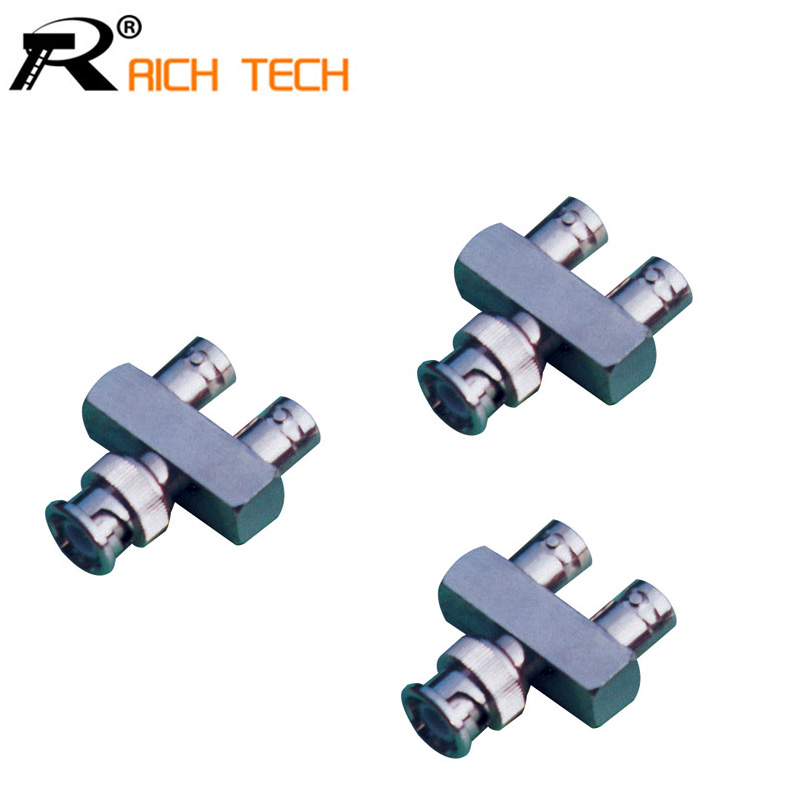 Y Type BNC male to Dual BNC female straight Coaxial For CCTV Cameras system connector 1pc 10 pcs lot cctv system solder less twist spring bnc connector jack for coaxial rg59 camera for surveillance accessories