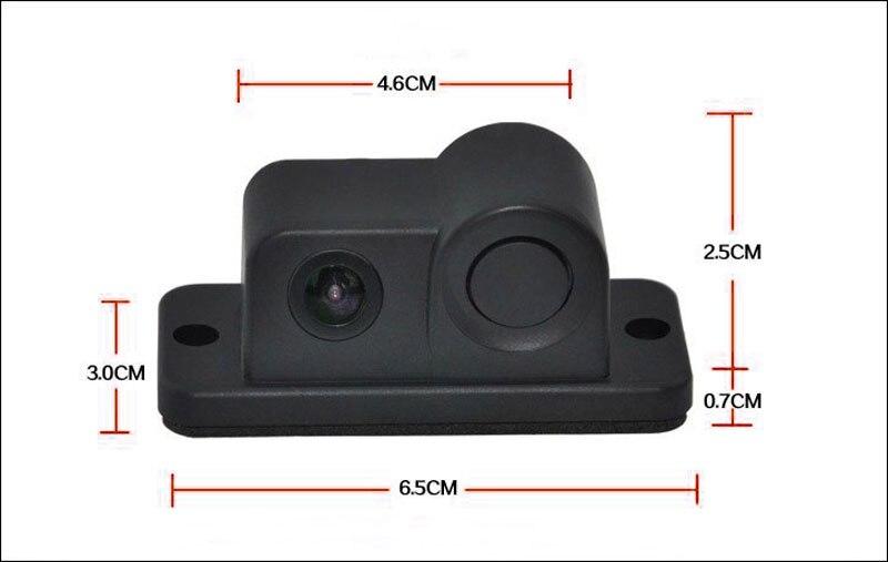 2 in1 Parkimiskaamera andurid Mustad andurid Tagasikäik Radar Auto - Autode Elektroonika - Foto 2