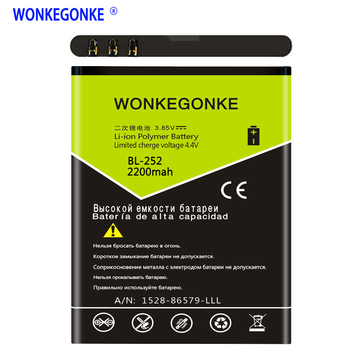 WONKEGONKE için Tele2 Tele 2 Mini Akıllı Start2 MTC İçİn BL-252 BL252 Pil Cep Telefonu Pilleri Bateria