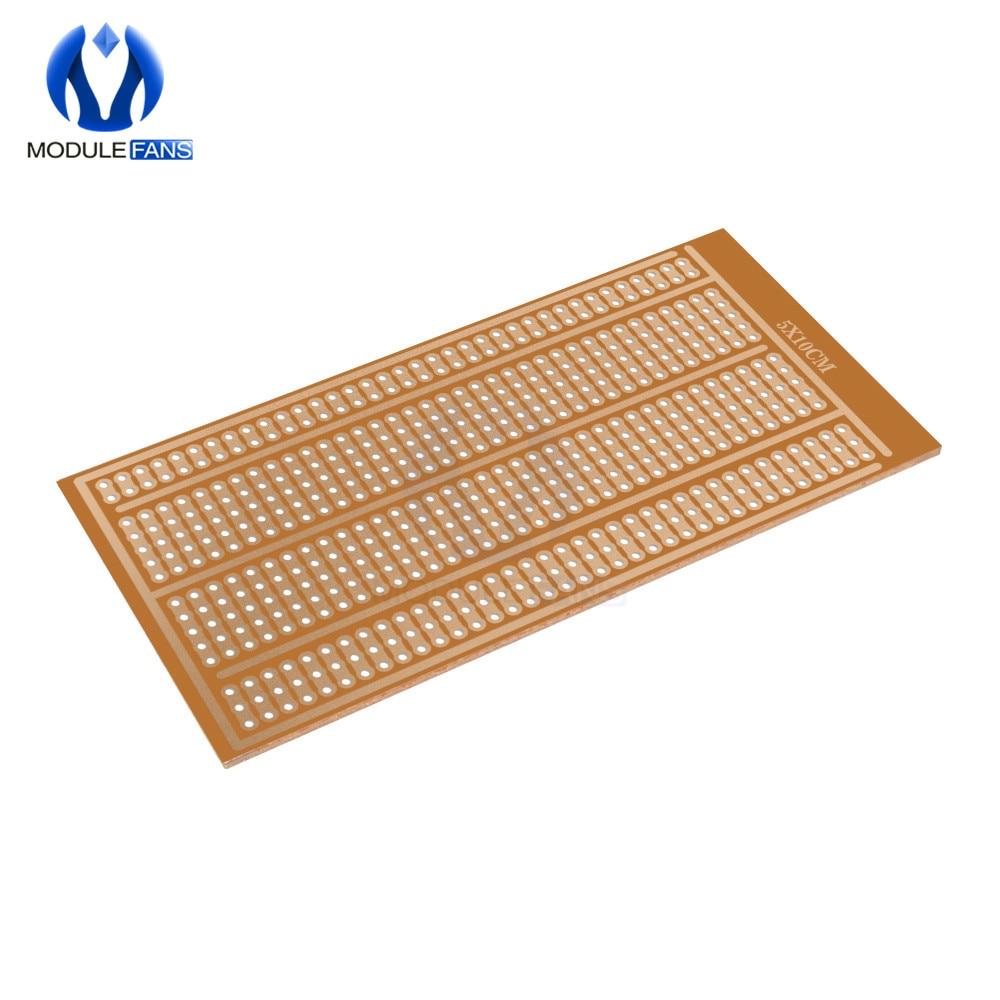 5 pçs 5x10cm atacado universal 5x10cm solderless pcb teste tábua de pão de cobre protótipo papel estanhado placa conjunta buracos diy