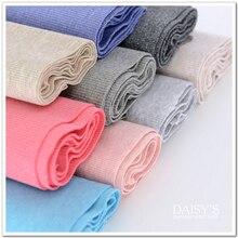 20cm Width 100cm-130cm Length 100 Cotton Rib Elastic Flower Yarn Knitted Fabric Diy Clothes Medium Thickness Cloth Hem 490gm