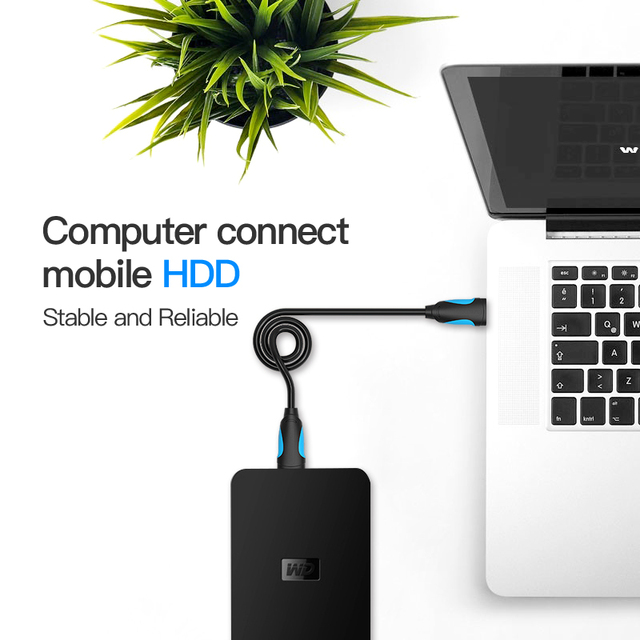 Vention USB to USB Cable Type A Male to Male USB 2.0 Extension Cable for Radiator Hard Disk Webcom USB2.0 Cable Extender