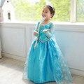 De alta Calidad de La Muchacha Vestidos de Princesa Children Ropa Anna Elsa Cosplay vestido de Fiesta para Niños Baby Girls Ropa