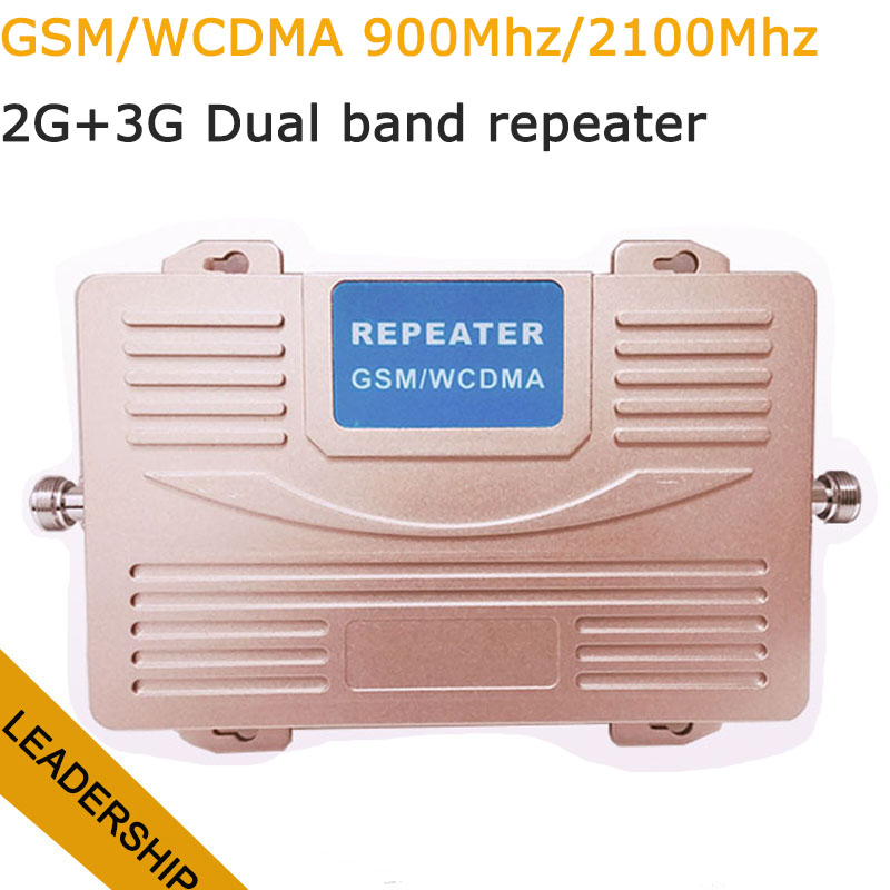 Dual Band GSM/WCDMA 900Mhz 2100mhz 75db 27db Big Power 2G 3G Cell Phone Mobile Phone Repeater Amplifier