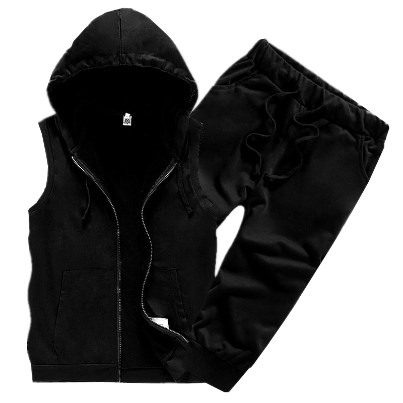 2019 Summer Pure Color Men Hooded Jackets and Shorts S M L XL 2XL 3XL 4XL White Black Gray Fashion Casual Mens 2 Piece Set