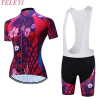 Teleyi Summer Cycling Jersey Short Sleeve For Women Breathable Quick Dry Sports Shirt JKD