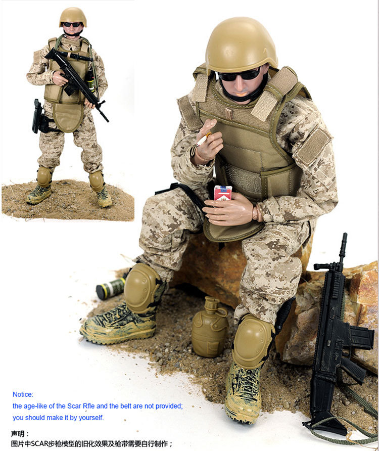12 inch 30cm NB01 SEALs Soldier Uniform Action Figure Model ...