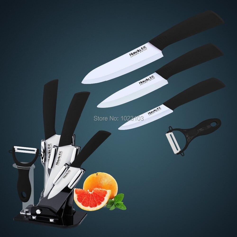 Ceramic kitchen knife/Knife set, 3+4 +5 +Ceramic peeler +Acrylic holder Free Shipping