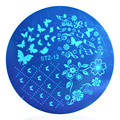 1 unid Varios Mariposa Patrón Nail Art Sello Plantilla Placa de la Imagen Del Clavo 3D Arte Plantillas Plantillas Herramientas de Manicura # STZA12