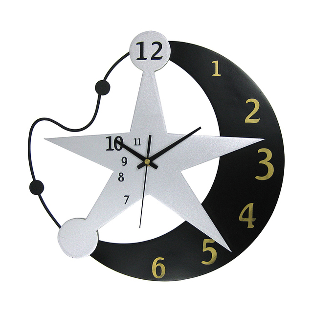 Aliexpresscom Buy D Clock Cm Moon Star Design Combination - Wall clock for kids room
