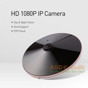 Image 2 - H.265 POE Audio FHD 1920 x 1080P 2.0MP Night Vision Fisheye Panoramic 18 LED IR IP Camera Security ONVIF P2P IP CCTV Cam