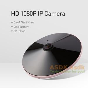 Image 2 - H.265 POE אודיו FHD 1920x1080 P 2.0MP ראיית לילה Fisheye פנורמי 18 LED IR IP מצלמה אבטחת ONVIF P2P IP CCTV מצלמת