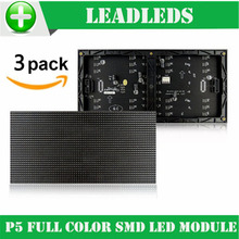 (3 pieces/lot) P5 Indoor Full Color LED module 1/16 Scan SMD 3528 3in1 RGB 320*160mm 64*32pixels LED Display