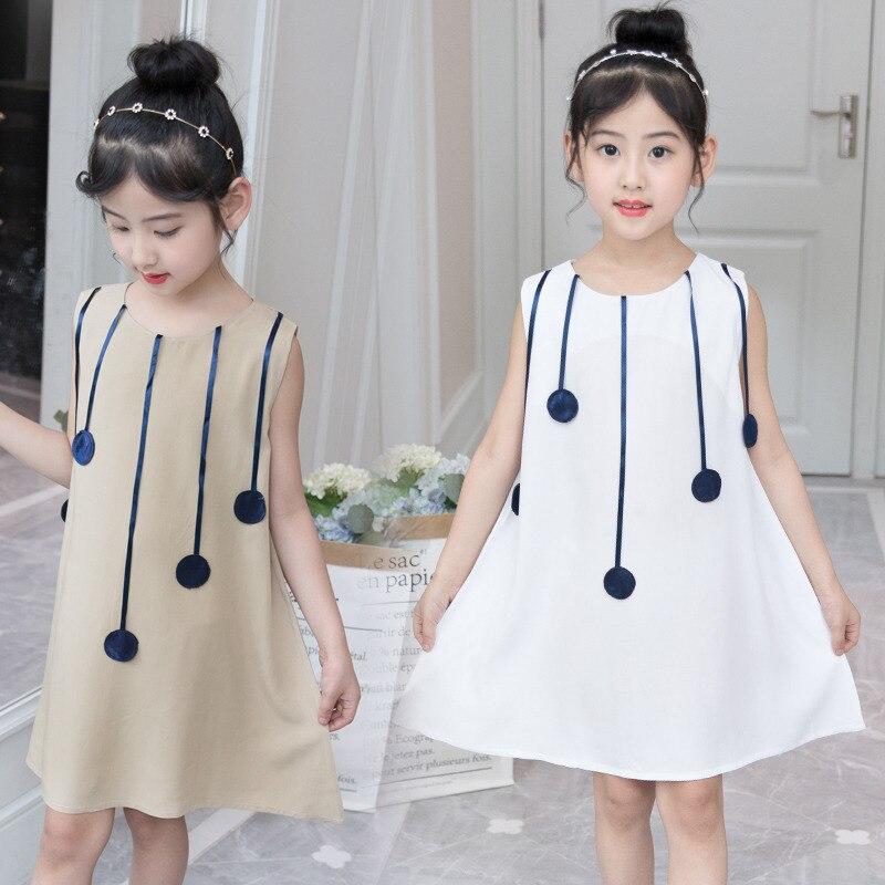 polka dot dress 5 10 to 12 years for girls beach dresses kids party baby girl.white dress Summer child garments children cloths