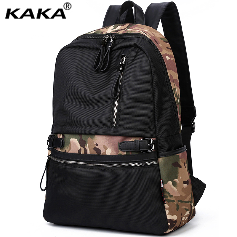 Brand KAKA Korean Style Fashion Men and Women Backpacks Waterproof Nylon School 14 Laptop Backpacks for Teenage Girls Black bag комбинезоны эротик passion комбинезон чаровница