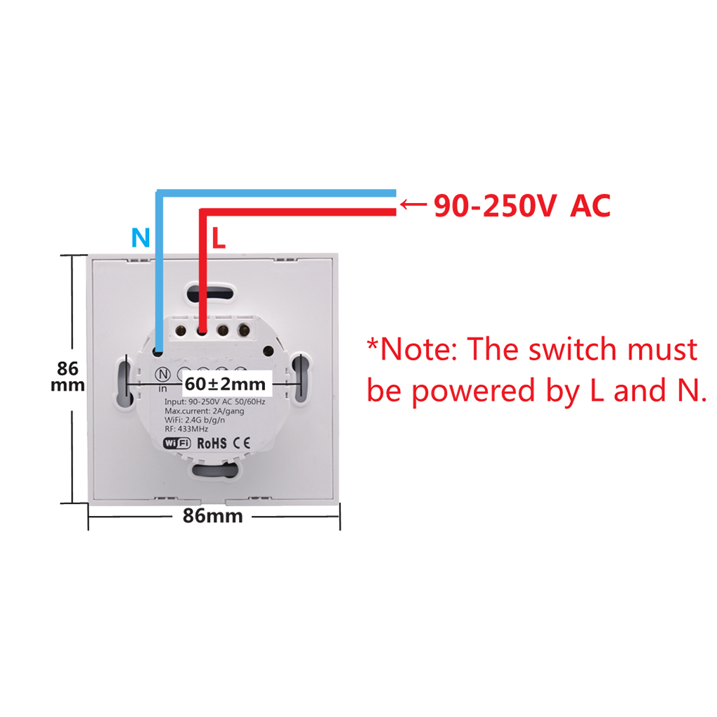 Aliexpress.com : Buy Sonoff T1 EU Smart Touch Switch Remote Control Light  Wall Panel 1/2 Gang Wireless ON/OFF Smart Plate Work With Alexa/Nest from  Reliable ...