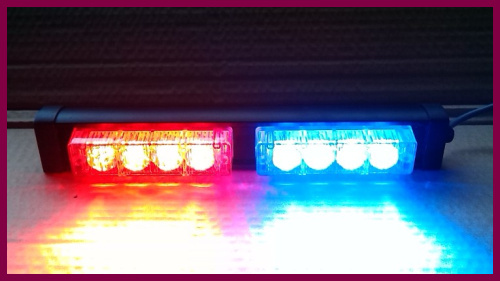 Free shipping! High intensity DC12V,8W Led strobe warning light,emergency lights,police lights,3flashing patter,waterproof high intensity dc12v 9w led car sunshade warning lights strobe visor emergency light flash lights