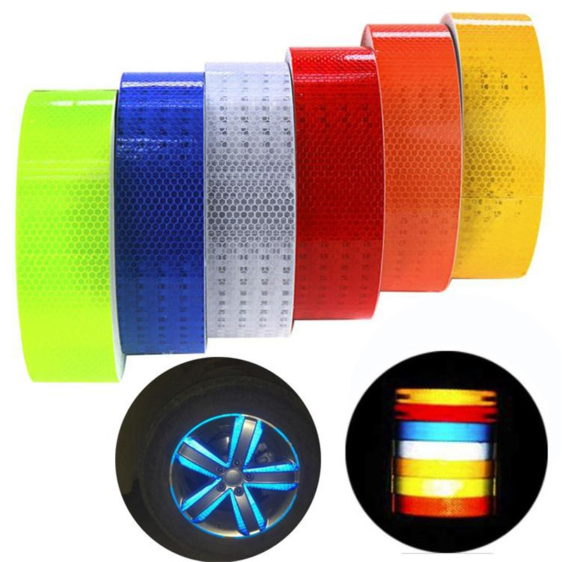 Reflective Tape 5*300cm Safety Warning Material Stickers Motorcycle Cycling Car Sticker 6 colors High Quality Car Styling ...