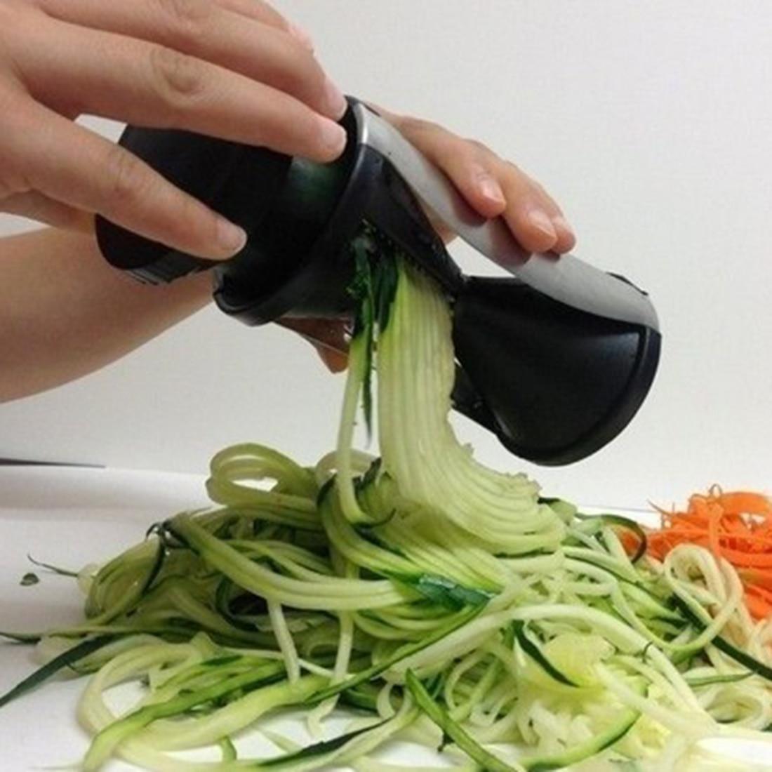 Verdura Frutta Spirale Shred Process Device Cutter Peeler Attrezzo Della Cucina Affettatrice spirelli spiralizer julienne cutter