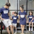 Spring Summer Family Matching Clothes Matching Mother Daughter Dress Father Son Outfits Short Sleeve Cotton T-shirt Family Look