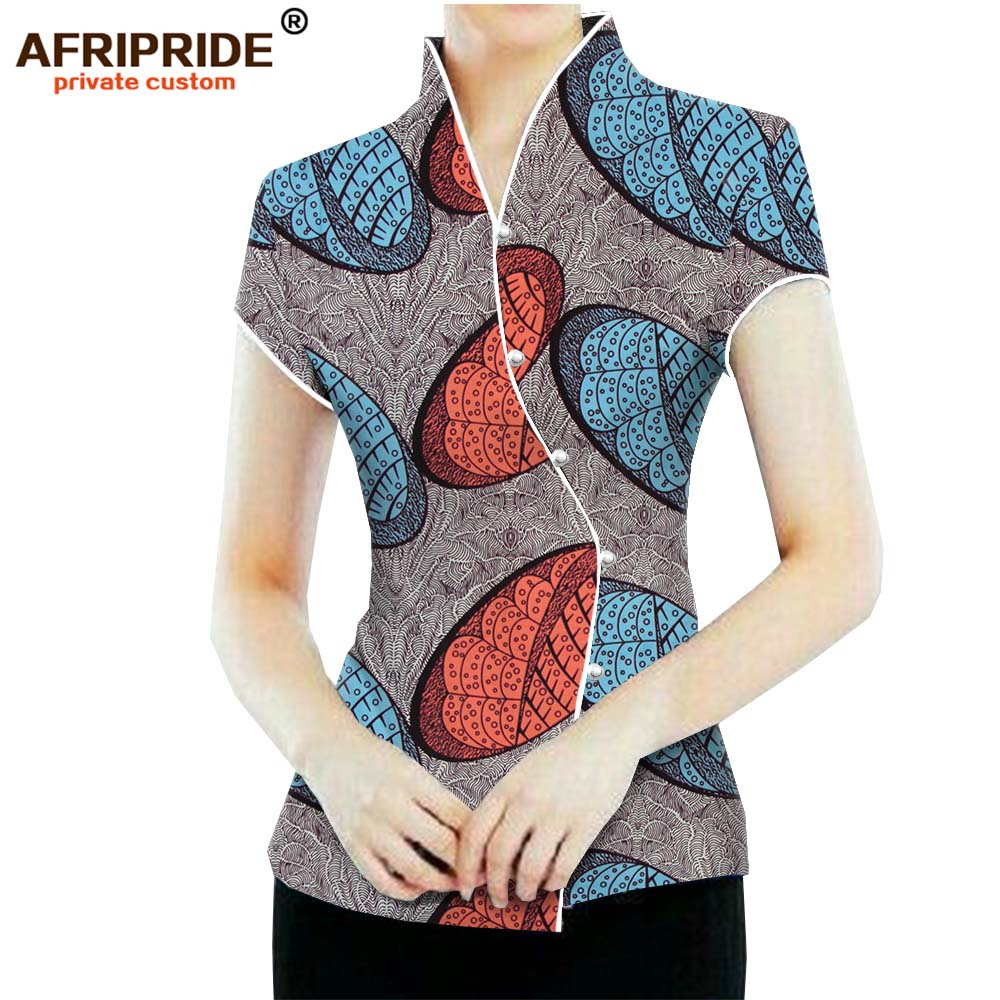 2019 African Women 39 s fashion Coat ankara top with pearl button print high quality stitched casual clothing AFRIPRIDE A1924003 in Africa Clothing from Novelty amp Special Use