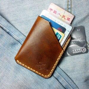 Мужской кошелек, из натуральной кожи, с мини-картой