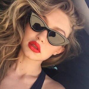 e7eb62d59d 2018 Retro Cat Eye Driving Polarized Sunglasses Girl Outdoor Sun Glasses