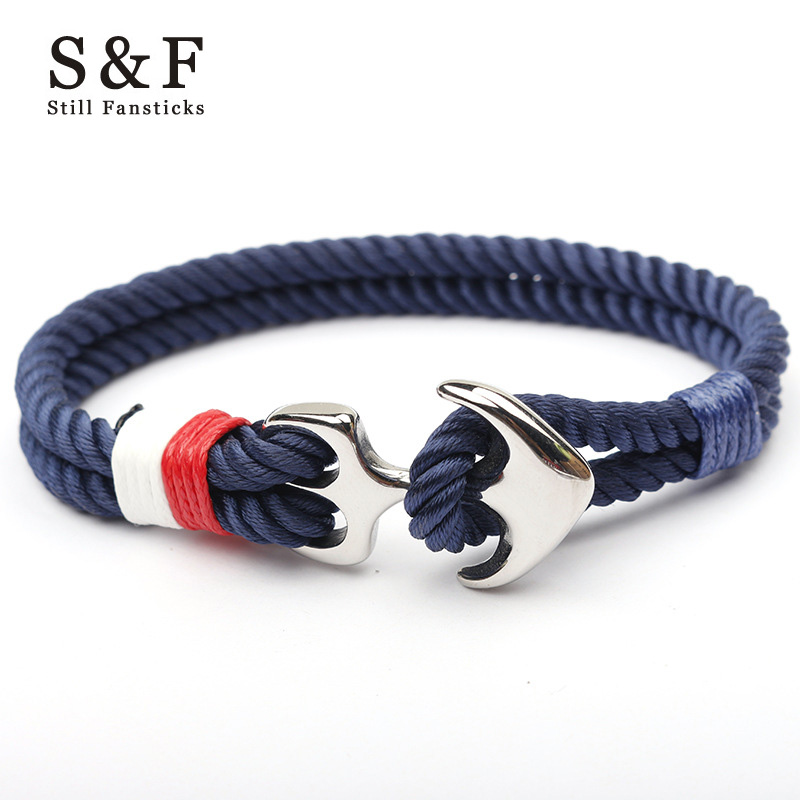 Stainless Steel Anchor Bracelet Rope Bracelets For Women Erks
