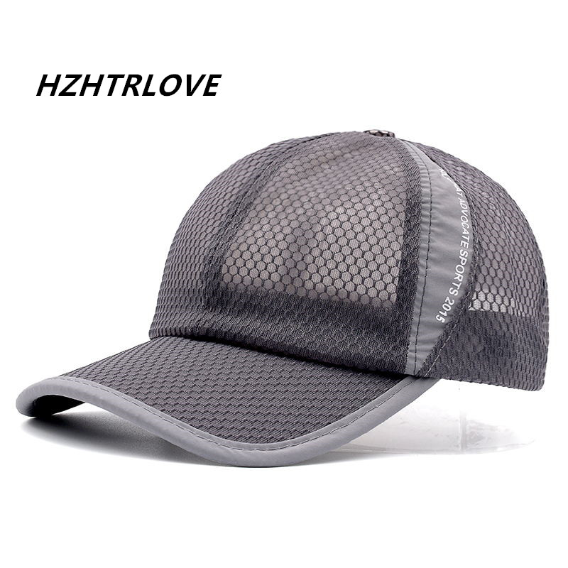High Quality 10 Colors Breathable Hat For Men Women Summer Snapback Quick Dry Mesh Baseball Cap Sun Hat Bone lws 2017 summer sport mesh baseball cap outdoor sun quick dry breathable hats men women adjustable waterproof quick drying cap