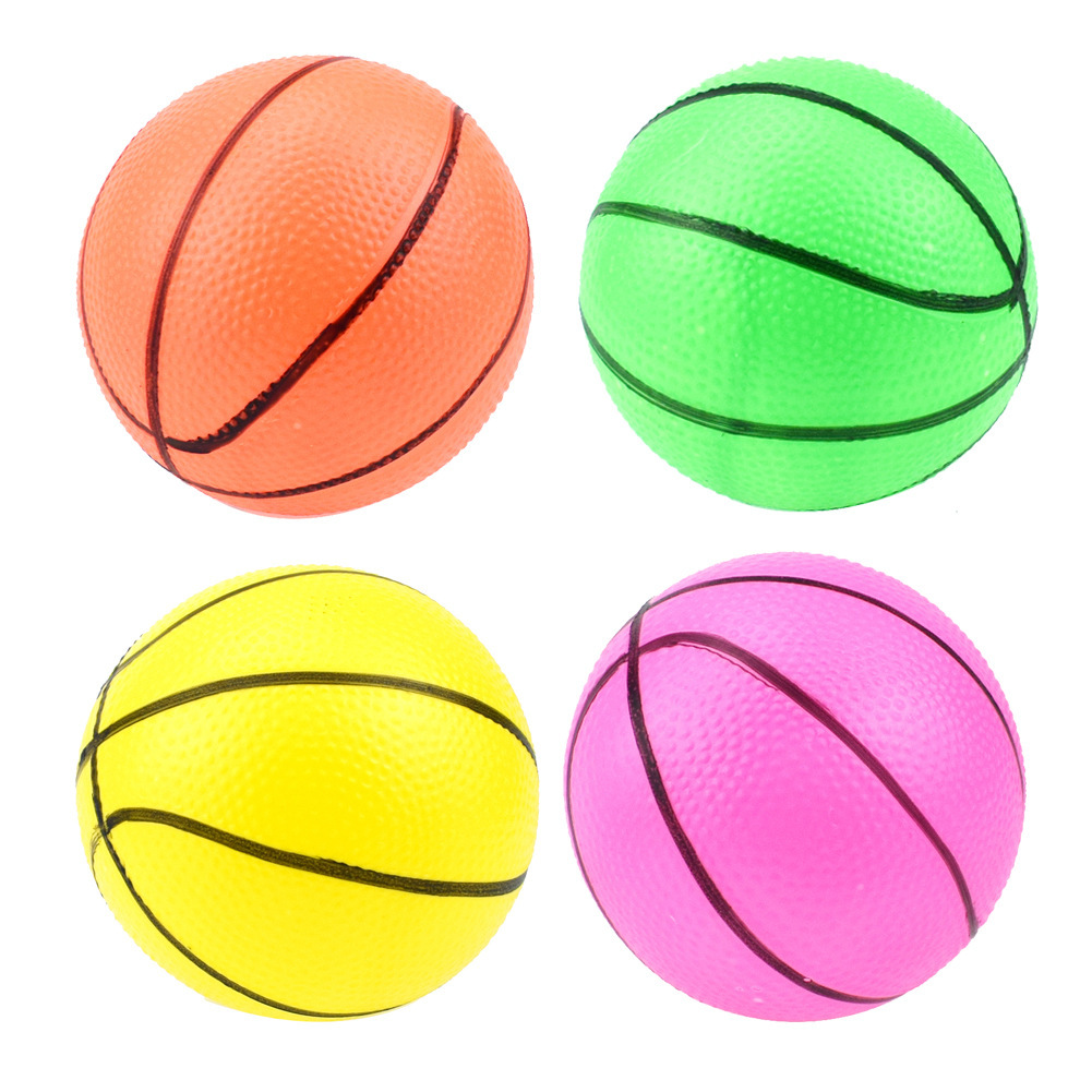 1PC 10CM Plastic Cement Multicolor Children Inflation Basketball Small The Clap The Ball Toys