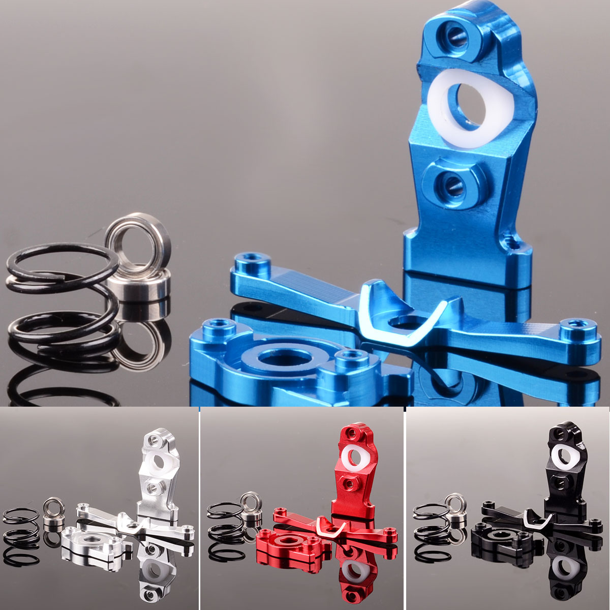 medium resolution of aluminum steering assembly erv048 for rc gpm traxxas 1 16 e revo slash summit 1 16