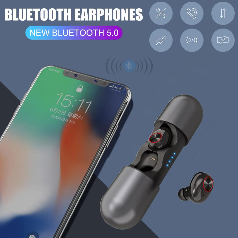 Bluetooth 5.0 Earphones Capsule Headphones Wireless Sports TWS Bluetooth Earbuds Gaming Headset With Dual Microphone