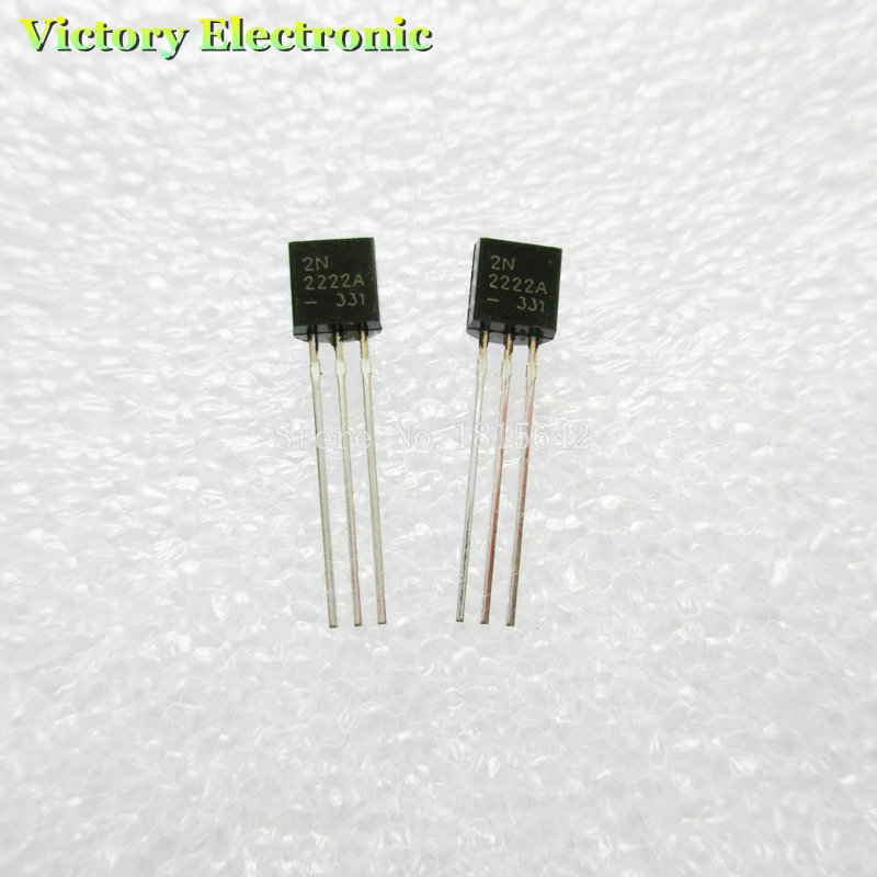 100PCS/LOT in line 2N2222A triode transistor NPN switching