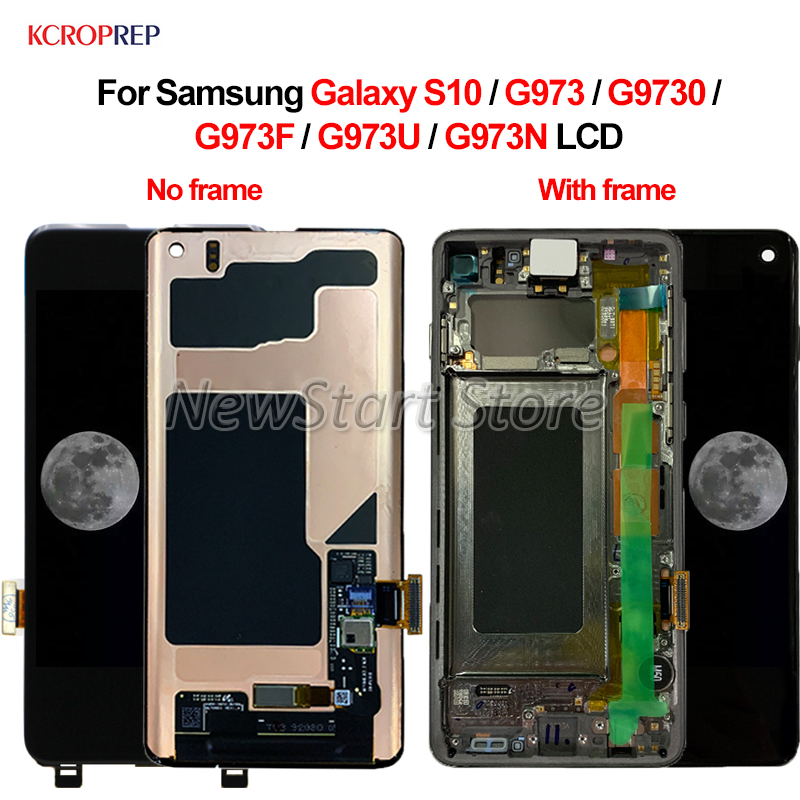 AMOLED For Samsung Galaxy S10 SM G9730 G973F G973U G973N LCD Display Touch Screen Digitizer Assembly