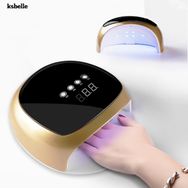 KSBELLE nail dryer 52W led Nail lamp Dryer For Curing Nail Gel Polish Manicure 30s 60s 90s 120s UV Lame for nail dryer 60w uv lamp nail polish dryer led light 30s 60s 120s drying fingernail