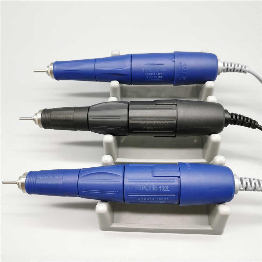 Wiertarka Pen strong 35K 102L 40K 105L rękojeść dla strong 210 skrzynka sterownicza elektryczna maszyna do manicure gwoździe wiertarka uchwyt narzędzie do paznokci