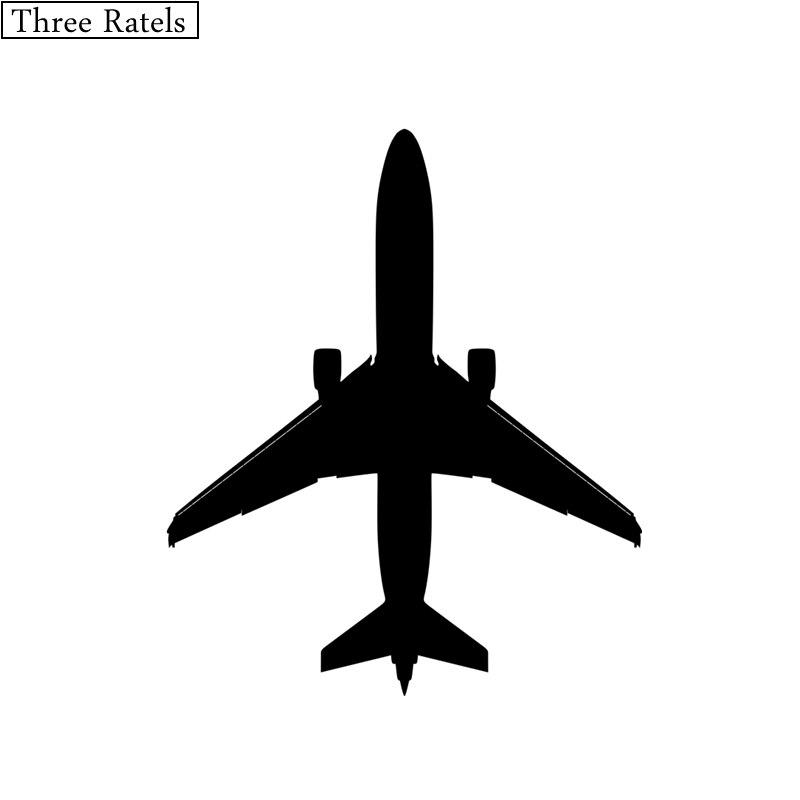 Three Ratels TZ-129 12.5*15cm  airplane aircraft vinyl cool car sticker decal jdm car stickers