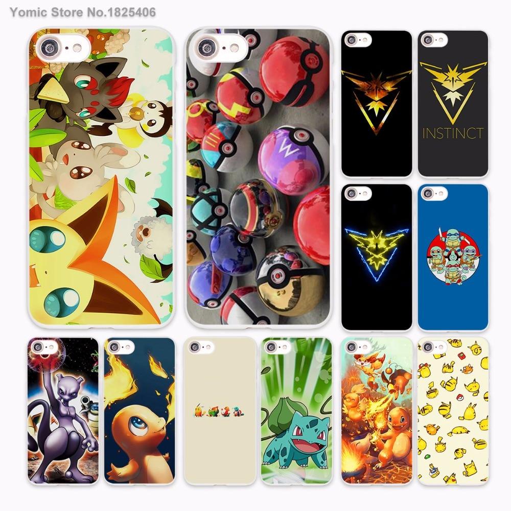 Pokemons Бульбазавр Тип начало Дизайн Жесткий Белая кожа чехол для Apple iPhone 6 6S плюс 7 7 Plus SE 5 5S 5C Чехол для телефона