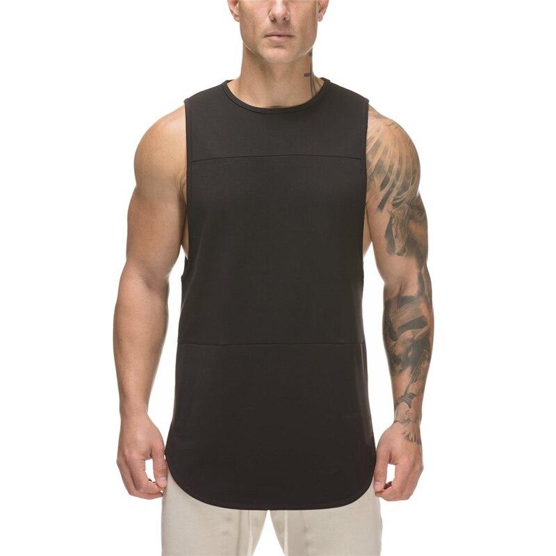 Brand Mens Tank Tops Shirt Patchwork Mesh Bodybuilding Stringer Tanktop Fitness Singlet Sleeveless Slim Fit Tank Gyms Clothing