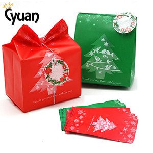 Image 1 - 20pcs Christmas Gift Bags Package Bag Xmas Gift Decor Christmas Tree Candy Gift Bag Navidad Christmas Decorations for Home