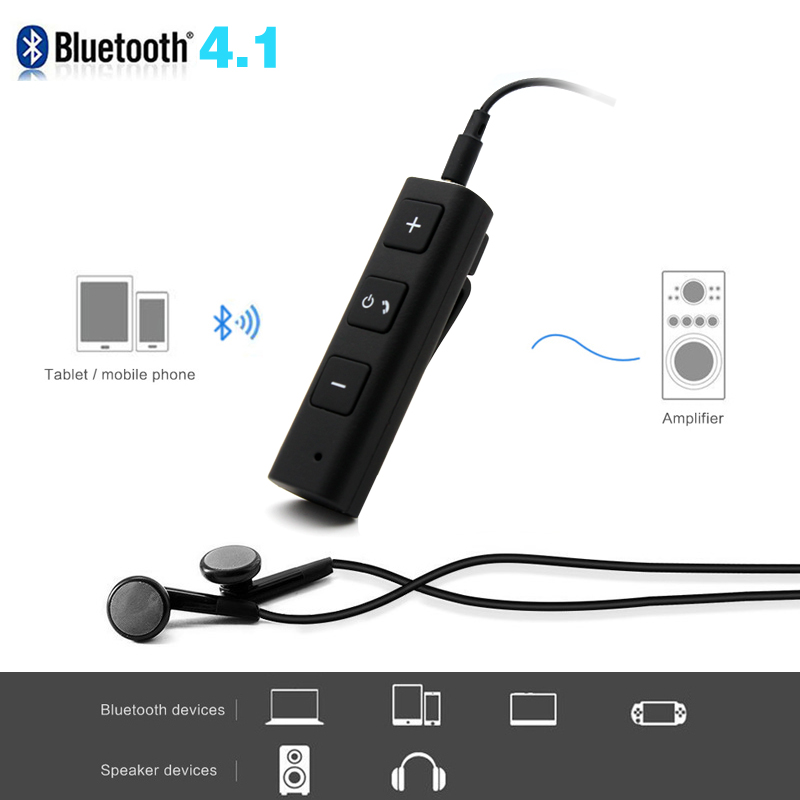 Daono 2017 Bluetooth Car Kit Hands free Music Audio Receiver 3.5mm jack Adapter Auto AUX Kit for Speaker Headphone Car Stereo car usb aux headphone male jack flush mount mounting adapter panel input aux connector pro 3 5mm 12v for most car use 2017 new