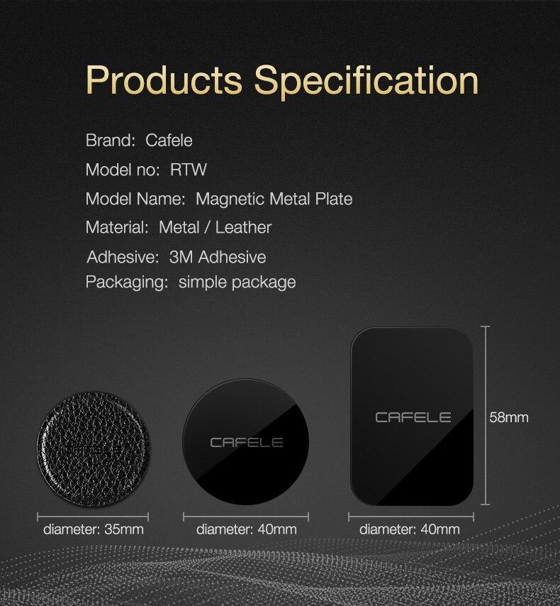 Car Phone Holder Metal Plate Magnetic Disk (7)