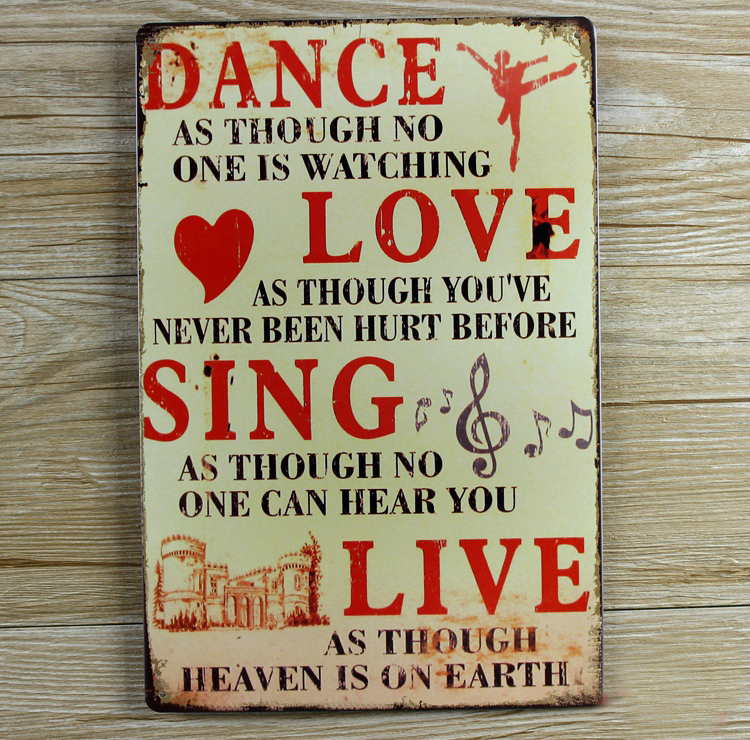 Metal Wall Signs popular dance sign-buy cheap dance sign lots from china dance sign