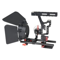 GH4 Photographic Camera Kit Metal SLR Photography Rabbit Cage Kit for Sony A7S A7R2 Micro Single Shock Absorber Protection Kit