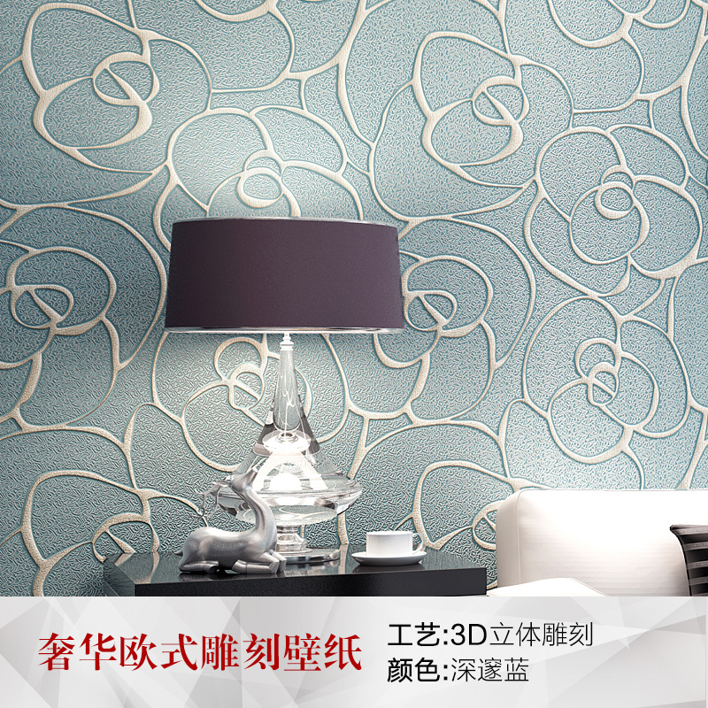 PAYSOTA 3D Wallpaper Modern Simple European Style 3D Embossed Non-woven Living room Sofa Bedroom TV Background Wall Paper Roll beibehang 3d embossed wallpaper non woven floral design wall covering modern minimalist style living room tv background