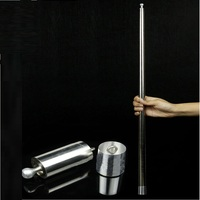 Vanishing Disappearing Cane To Silk Flower Silver Magic Cane Magic Tricks For Magician Close Up Stage