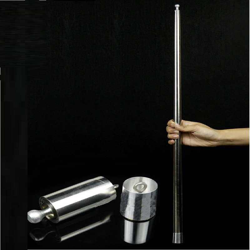 Vanishing Disappearing Cane To Silk/Flower Silver Magic Cane Magic Tricks for Magician Close Up Stage Magic Tricks Magic Props